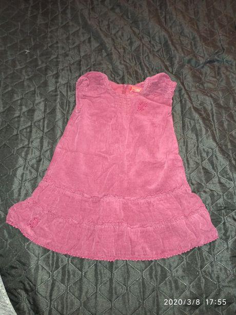 Sukienka sztruks r.86