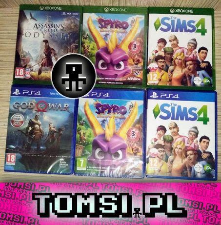 [Tomsi.pl] Assasins Odyssey Spyro God Of War The Sims 4 XBOX ONE PS4