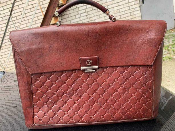 Нова, шкіряна, брендована сумка