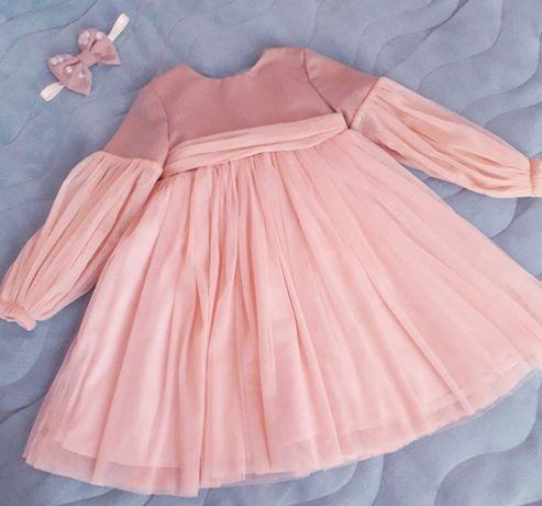 Платье 92, нарядное платьеЕвгакидс,состояние нового!+повязка в подарок