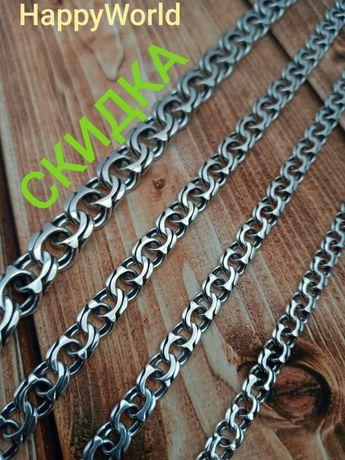 Серебряная цепочка цепь бисмарк Серебро 925 пробы