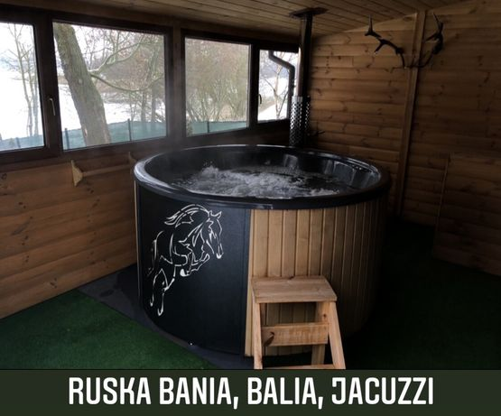 Ruska Bania,balia,gorąca beczka skandynawska,sauna,jacuzzi,basen,spa