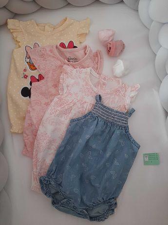 Paka ubrań rampersy niemowlęce Pepco roz. 62 68 + gratis