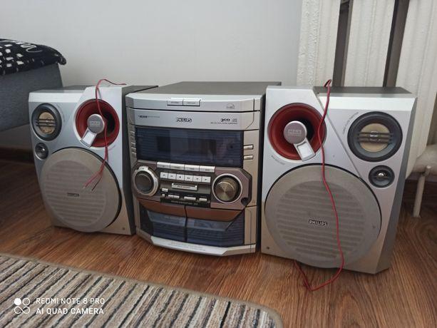 Wieża CD, radio, kasety