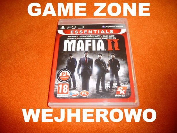 Mafia 2 PS3 + PS3 Slim = PŁYTA PL Wejherowo = Wersja rozszerzona 3 DLC