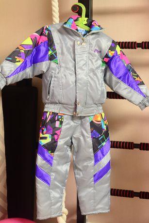 комбинезон/куртка/полукомбинезон на 3-4 года деми