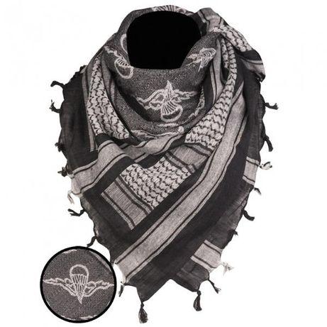 MILITARIALODZ.PL Arafatka Paratr. Black/White 110x110cm MIL-TEC