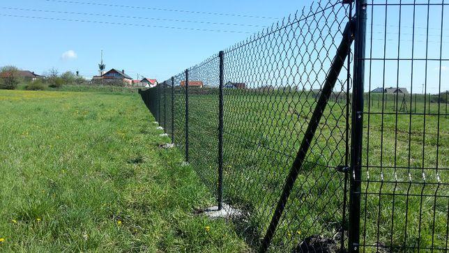 Kompletne ogrodzenie siatka ogrodzeniowa 150cm SIAT-METAL