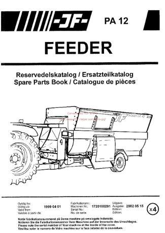 Katalog części wóz paszowy Feeder PA 12