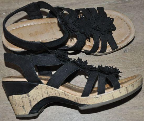 Sandały Softwalk R.38 sandałki na koturnie- świetne, Jak Clarks