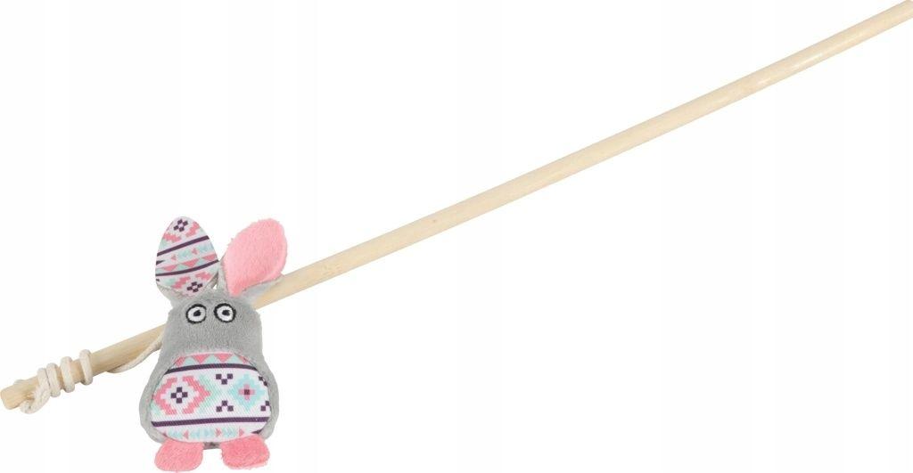 Zolux Zabawka dla kota wędka królik kol. szary