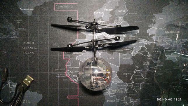 Летающий шар с датчиком приближения
