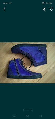 Кеды хайтопы кожаные ботинки Cosmoparis р.37/24см