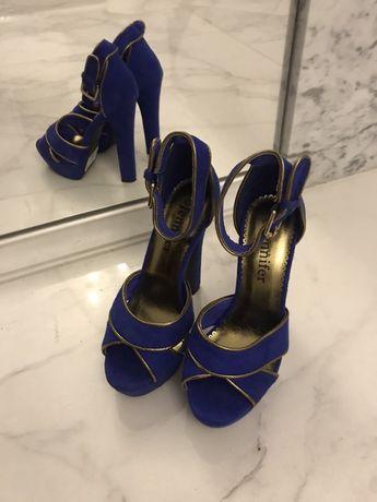 Buty damskie jennifer ccc, w kolorze chabrowym