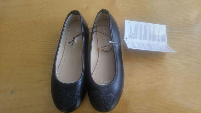 Buty półbuty balerinki r.32 Nowe czarne