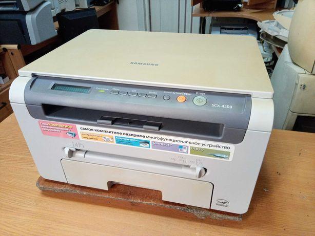 Лазерное МФУ Samsung SCX-4200 (принтер/сканер/копир). Гарантия 1 месяц