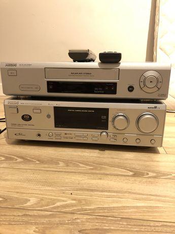 Amplituner PHILIPS FR-986 + gratis Magnetowid PHILIPS VR 720