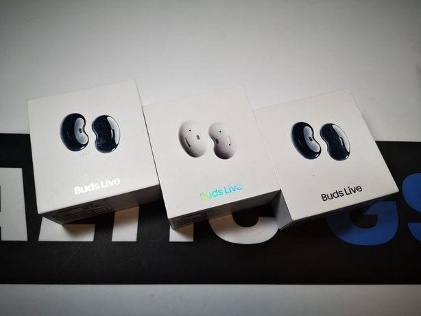 Nowe słuchawki bezprzewodowe Samsung Buds Live R180 Black / White