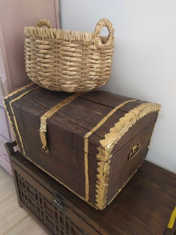 Stary kufer, skrzynia