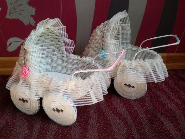 wózek z papierowej wikliny