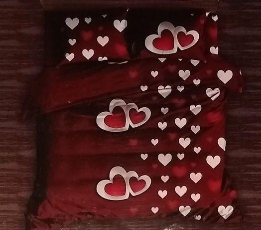 Pościel bawełniana serca 160x200