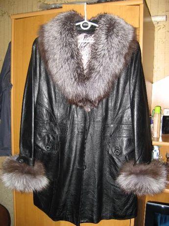 Куртка кожаная женская, весна - осень