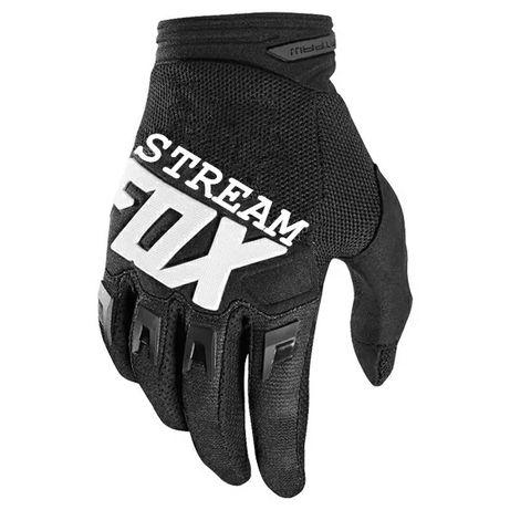 Rękawiczki FOX DIRTPAW czarne niebieskie czerwone cross enduro ATV
