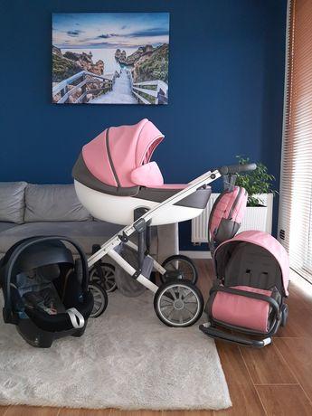 Wózek 3w1 Anex M Type Pink z fotelikiem Cybex Aton 5 GWARANCJA