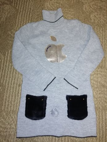 Шикарный свитер туника для девочки