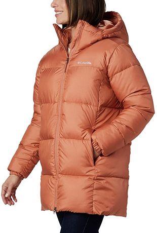 Женская куртка columbia puffect mid hooded jacket, размер S