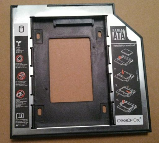 Caddy карман Optibay для HDD SATA 9.5mm 12.7mm
