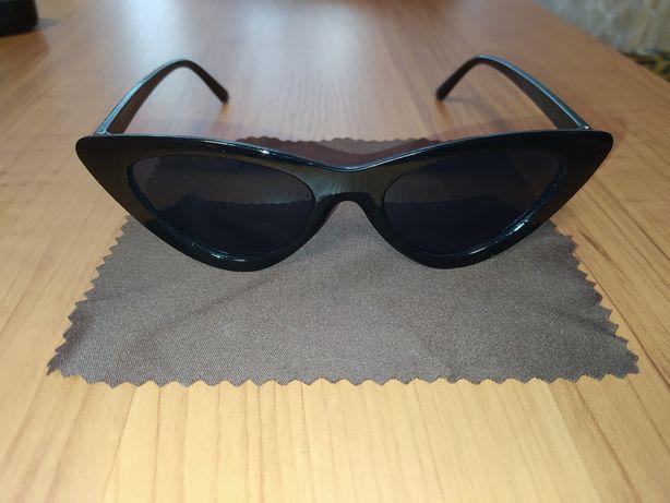 Очки черные ретро солнцезащитные Cat Eye (Кошачьи глаза, лисички)