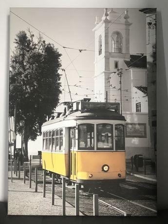 Piękny Obraz na płótnie Lizbona żółty tramwaj Portugalia 50x70cm