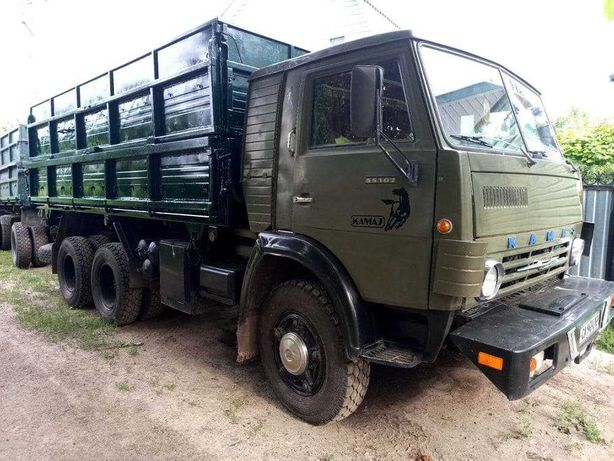 КАМАЗ 55102 с прицепом [CАМОСВАЛ]