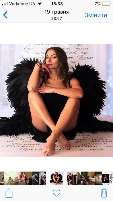Крылья ангела крылья птицы черные Одесса - изображение 1