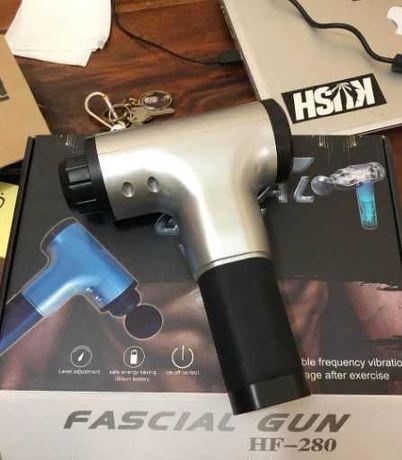 вибрационная терапия, новый Массажер Fascial Gun 4 насадки