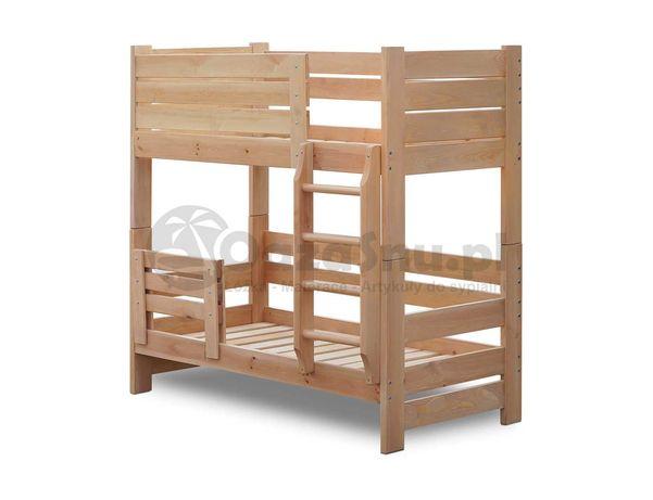 sosnowe łóżko piętrowe OLIMP 90x180 mega stabilne 100 kg