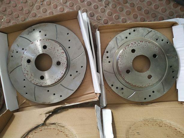 Discos ventilados, perfurados e razorados 300mm/280mm