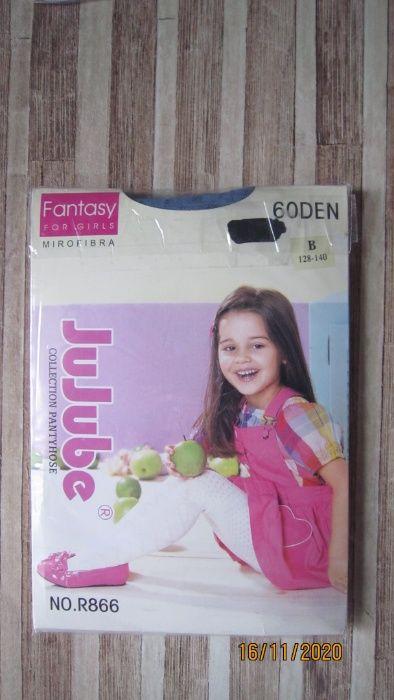 Для девочки новые колготы jujube fantasy 60 den р. 128-140 см Харьков - изображение 1