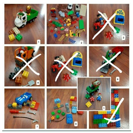 Lego duplo, zoo, traktor, auta, quad,  motor,