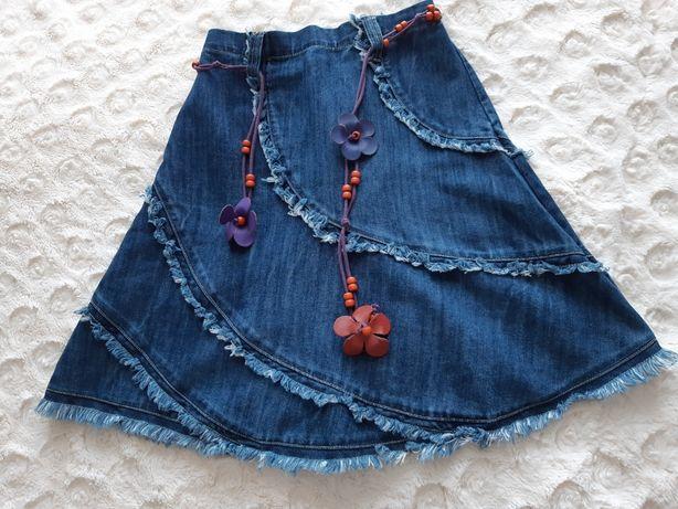 Dziewczęca spódniczka jeansowa rozmiar 122