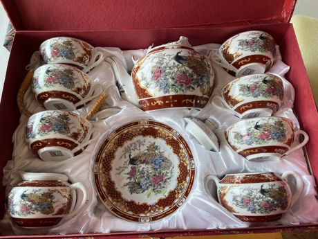 Komplet do herbaty 6 os.porcelana