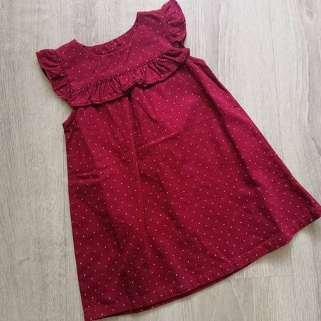 Платье джинсовое H&M Zara next новое бордо