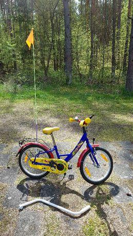 Rowerek dziecięcy 18 cali niemiecki + gratis pchacz, kask