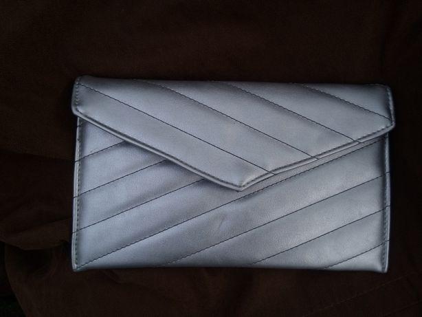 Клатч asos, серебристый клатч, блестящая сумочка, маленькая сумка