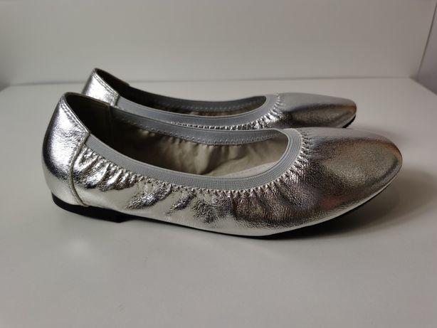 Balerinki Goodin srebrne
