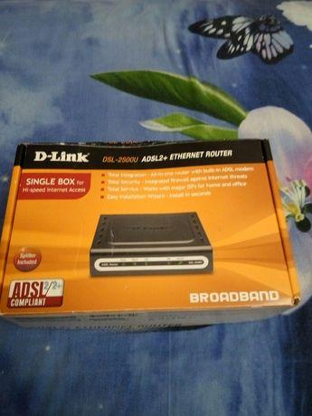 Интернет роутер D-Link DSL2500U