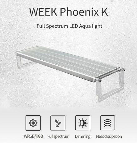 Iluminação para aquários plantados WeekLED Phoenix K P600 RGB