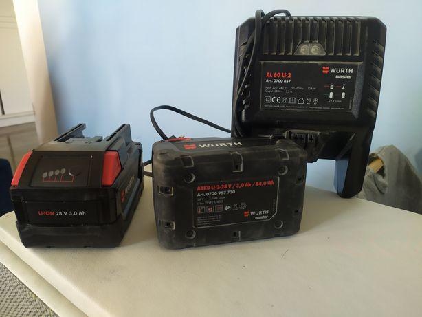 Baterie Akku Li-2-28V / 3.0AH , Ładowarka AL 60 LI-2