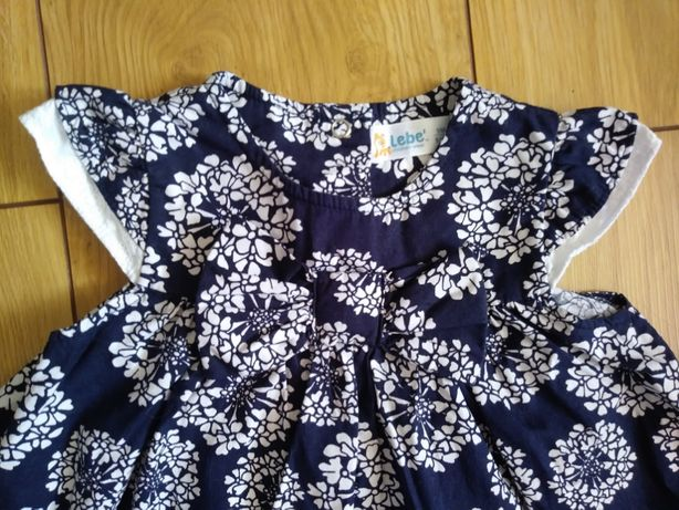 sukienka + 2 pary rajstop rozm. 74